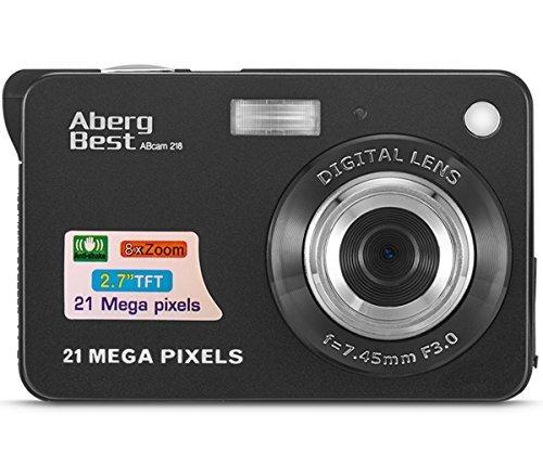 "AbergBest 21 Mega Pixels 2.7"" LCD Rechargeable HD Digital Camera,Video camera Digital Students cameras,Indoor Outdoor for Adult/Seniors/Kids (Black)"