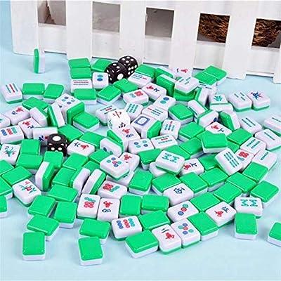 Hot-Nuevos Mini Mahjong Chino Juegos de Mesa Familiares portátil Mahjong Set Chinos Antiguos Mini Juego de Mahjong Juegos Familiares (Color : As Shown): Amazon.es: Hogar