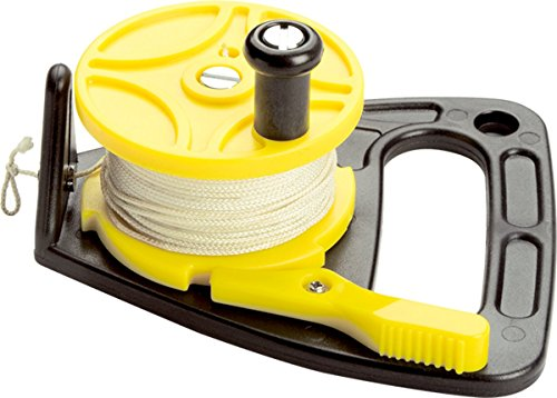 Scuba Max 150 foot Dive Reel Yellow with thumb stopper ()