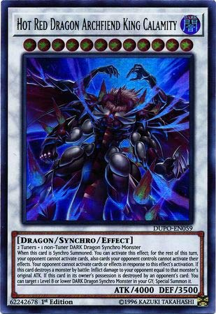 Yu-Gi-Oh! - Hot Red Dragon Archfiend King Calamity - DUPO-EN059 - Ultra Rare - 1st Edition - Duel Power