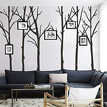 MairGwall Six Trees Wall Decal Tree Vinyl Wall Poster Nature Wall Sticker  For Bedroom (S