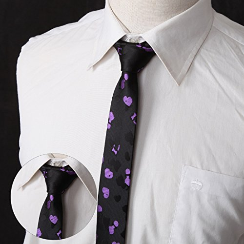 DANF0048 Various Colors Polyester Slim Ties Love Shopstyle Skinny Ties - 5 Styles Available Selection Accessories By Dan Smith by Dan Smith (Image #5)
