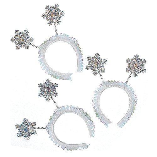 Glitter Snowflake Head Boppers (Pkg. Of -