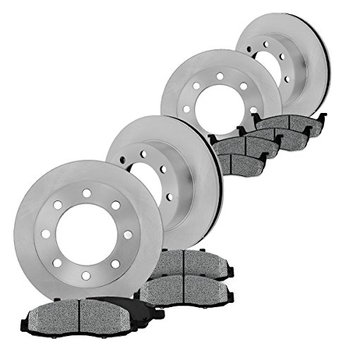 FRONT 325 mm + REAR 330 mm Premium OE 8 Lug [4] Rotors + [8] Metallic Brake Pads