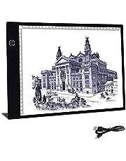 A4 Tracing Light Box, Aufeel tableta de luz Tablero de Trazado Digital, Tamaño A4 , Mesa de Luz 3 Tipos de Luminosidad Ajustable 24x36cm