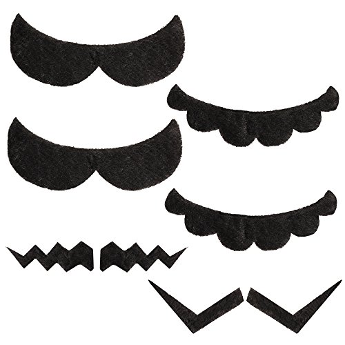 Katara 1826 - Set de 6 Fausses Moustaches Auto-adhésives Mario Bros. Mario, Luigi, Wario, Waluigi - Adultes/Enfants