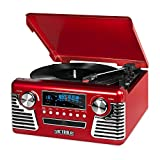 Victrola Record Player Best Deals - Victrola 50's Retro Record Player with Bluetooth and CD, Red