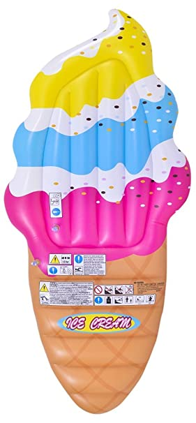 JILONG - Colchón Hinchable Cono Helado, Multicolor, 37424: Amazon ...