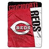 "Northwest MLB Cincinnati Reds Strike Plush Raschel Throw, 60"" x 80"""