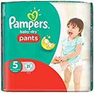 Pampers Baby-Dry Pants Size 5 Carry Pack 21 Nappies