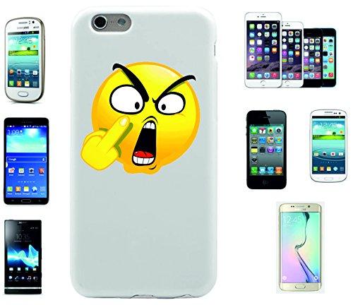 """Smartphone Case Apple IPhone 7+ Plus """"Böses/Verärgertes Gesicht mit Stinkefinger"""", der wohl schönste Smartphone Schutz aller Zeiten."""