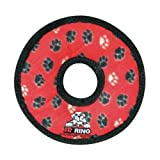 Tuffy's Junior Ring Dog Toy, Red Paws, My Pet Supplies