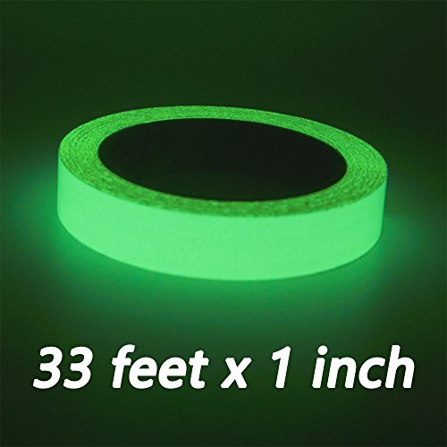 Duct Tape Halloween Costumes (33 Feet Photoluminescent Tape Glow In the Dark Sticker Luminous Stage Tape for Indoor Outdoors Party Home Use)