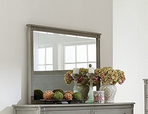 - Aviana Mirror w/Antique Gray Wood Frame by Homelegance