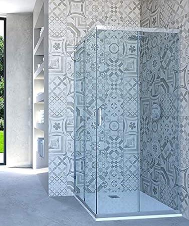 HYDRA - Mampara de Ducha esquinera con Puerta corredera, 92 x 63 ...