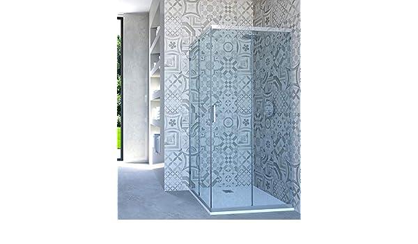 HYDRA - Mampara de Ducha esquinera con Puerta corredera, 92 x 63 cm, Transparente: Amazon.es: Hogar