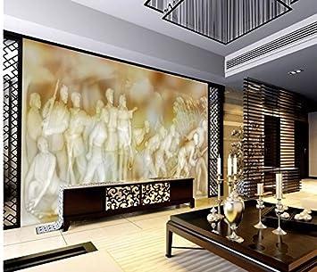 Weaeo 3D-Wandbilder Tapeten Für Wohnzimmer Jade Tv-Kulisse Relief ...