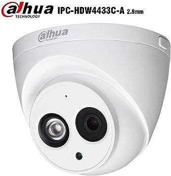 DaHua IPC-HDW4433C-A HD 4MP POE Built-in Mic Audio Dome IP Camera H.265 2.8mm