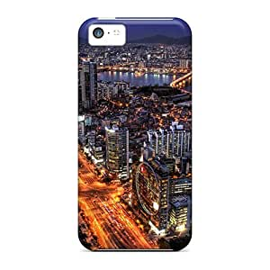 For Dana Lindsey Mendez Iphone Protective Case, High Quality For Iphone 5c Fantastic Urban Scape At Night Hdr Skin Case Cover