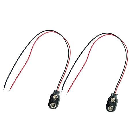 Sharplace 2 Piezas 9V Hebillas de Batería de Pastilla Activa Accesorios para Guitarra Eléctrica/Bajo