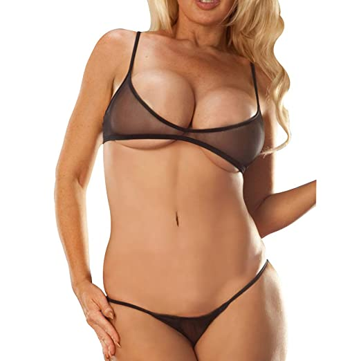 d91c2753520 Amazon.com: SHERRYLO Sheer Bikini Set See Through Bathing Suit ...