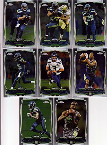 - Seattle Seahawks 2014 Topps Chrome NFL Football Series Complete 8 Card Team Set Including Russell Wilson Marshawn Lynch Richard Sherman Plus