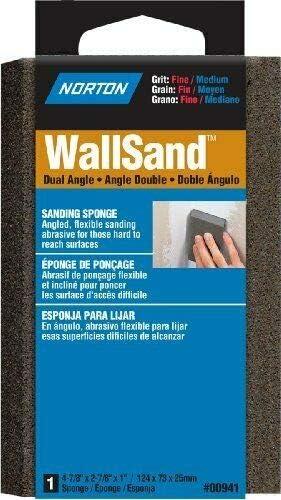 00941 Norton Wallsand Two Angle Sanding Sponge Fine Grit Medium