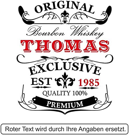 polar-effekt Elegante botella de whisky personalizada con grabado, decantador de 700 ml con cierre de cristal, jarra de whisky, idea de regalo para cumpleaños, diseño original y exclusivo