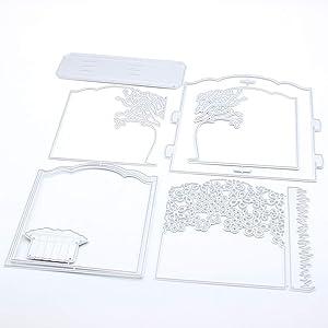 KSCRAFT 3D Garden Diorama Box Card Metal Cutting Dies Stencils for DIY Scrapbooking/Photo Album Decorative Embossing DIY Paper Cards