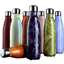 Water Bottle Marble lines Vacuum Flask Bottle Ultimate Vacuum Insulated Double Walled Stainless Steel Water Bottle & Drinks Bottle - 24 Hours Cold & 12 Hot - BPA Free