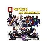 8 pcs/set SY266 Super Heroes Assemble Brinquedos VS Decool Minifigures Batman Wonder Woman Thor Doctor Strange Ororo Munroe Taskmaster