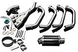 Yamaha XJ600 S/N Full 4-1 Exhaust 9'' Carbon Muffler 92-96 97 98 99 00 01 02 03