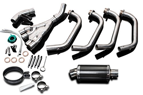 Yamaha XJ600 S/N Full 4-1 Exhaust 9'' Carbon Muffler 92-96 97 98 99 00 01 02 03 by Delkevic