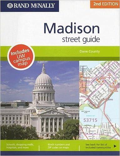 Rand Mcnally Madison Wisconsin Street Guide Rand Mcnally Madison