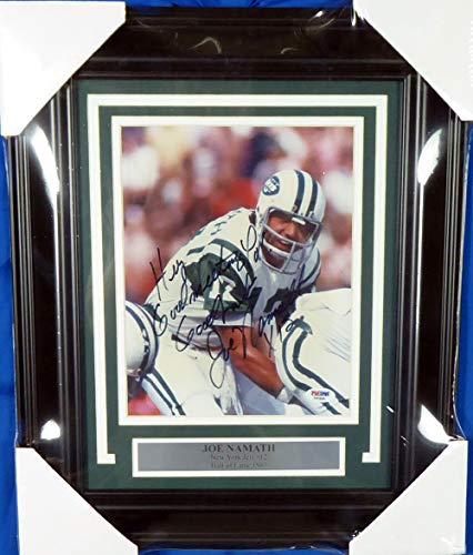 Joe Namath Autographed Framed 8x10 Photo New York Jets