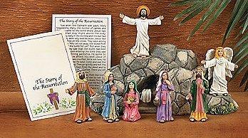 Christ Sets (Easter Christ Resurrection Set 8 Pc Collection decor)