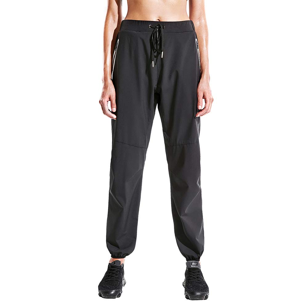 HOTSUIT Sauna Suits Pants Weight Loss for Women (Black,S)