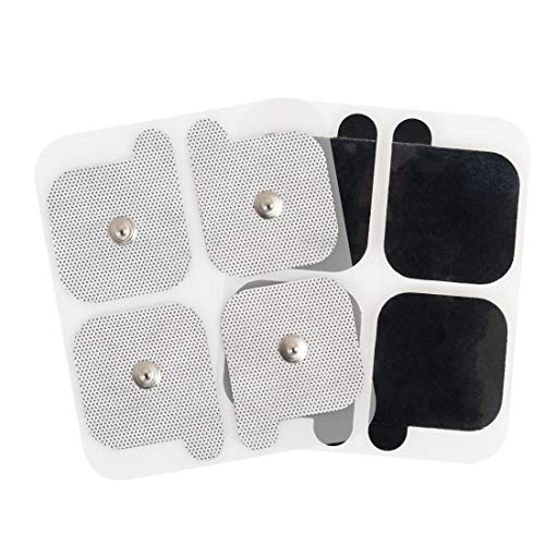 AccuRelief Universal TENS Unit Supply Kit - TENS Unit Pads and Lead Wires - for AccuRelief Single and Dual Channel TENS Devices and TENS Units with Snap Electrodes, 4 Sets of 4(16 Count) Electrodes