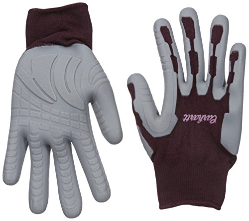 Carhartt Women's Durable Pro Palm Work Glove with Extreme Grip, Dusty Plum, -