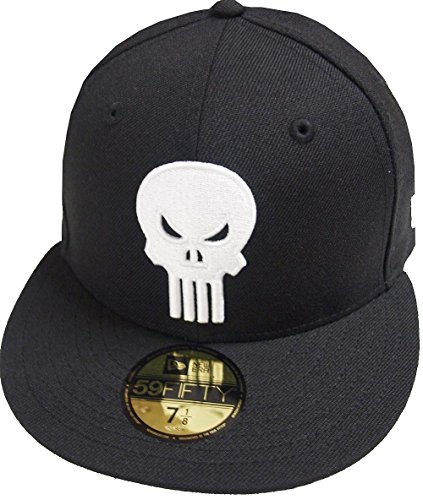 0f11377442f38 New Era Punisher Black White Marvel Dc Cap 59fifty 5950 Fitted Basecap  Kappe Men Special Limited