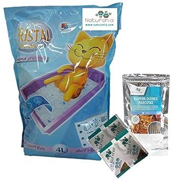 Naturonia Lote Arena Gatos silice para arenero Gatos 4L+ Filtro arenero Gato (Aloe Vera) para arenero Gatos Cerrados: Amazon.es: Productos para mascotas
