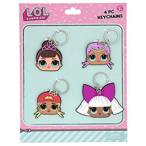L.O.L SURPRISE 4 Bendable Rubber Keychains, Pink