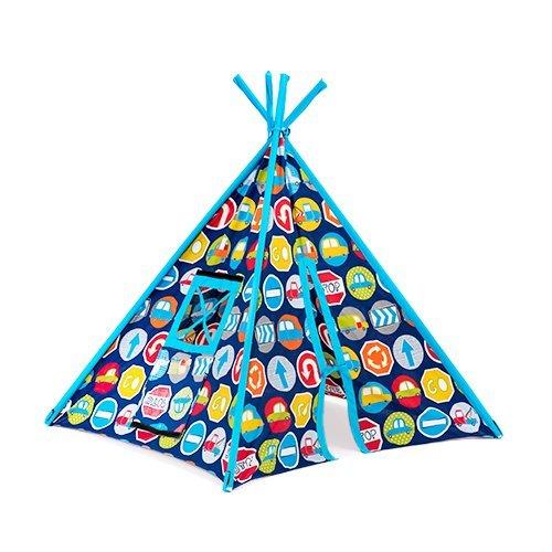 Kinder Straße Zeichen Aufdruck Innenraum Garten Spielzimmer Spielzelt Tipi Wigwam Zelt
