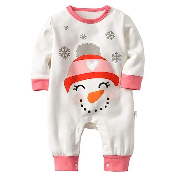 Inlefen Mono del Mameluco Infantil de Navidad Traje de Halloween Traje de Escalada Ropa de Manga Larga Pijama Creativo de Dibujos Animados de la Navidad: ...