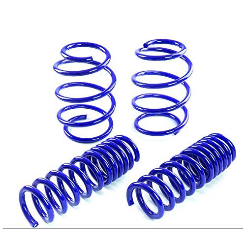 Fit 2015-2017 Ford Mustang Suspension Lowering Springs Blue (1