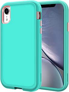 iPhone XR Case, LOEV Heavy Duty Shockproof Full Body Defender Case Armor 3 Layer Hybrid Protective Anti-Scratch Hard Shell & Soft TPU Bumper Rugged Cover for iPhone XR 6.1