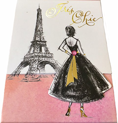 Molly & Rex Gold Foil & Gem Embellished Mini Pocket Notepad ~ Tres Chic Paris Eiffel Tower 61520