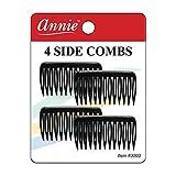 Annie Side Hair Comb Small Black (4pc) #3203