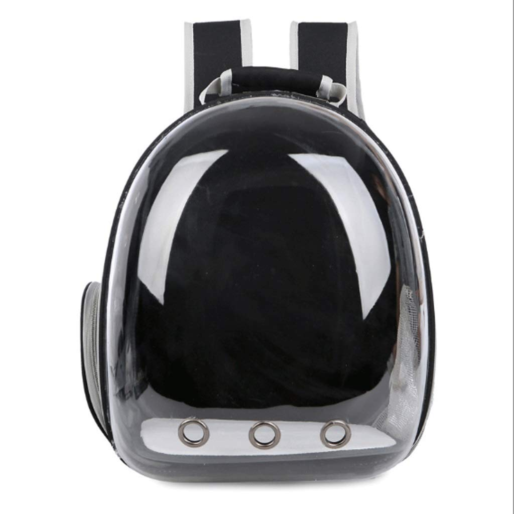Black MSSRS Panoramic Space Pet Transparent Backpack Cat Dog Chest Bag (color   Green, Size   M)