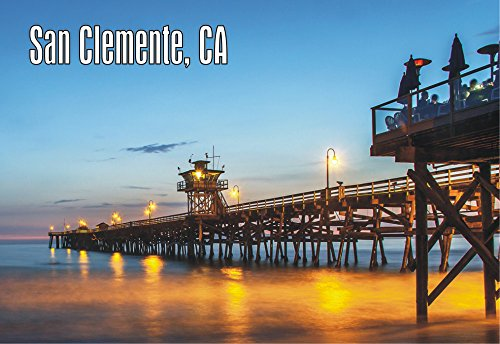 San Clemente Pier, CA, California, Beach, State Park, Spanish Village by the Sea, Souvenir, Travel, Locker, Magnet 2 x 3 Fridge - Ca Clemente San